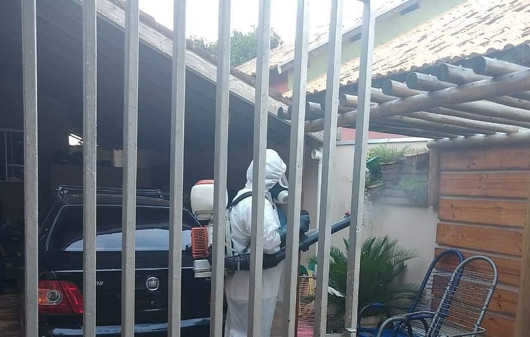 Casa dos policiais que testaram positivo também foram desinfectadas. (Foto: Divulgação/Polícia Militar)