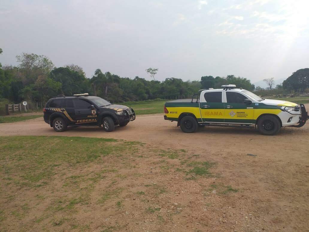 Ibama presta apoio à operação em reserva. (Foto: Divulgação PF)