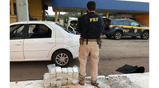 Trio é preso com cocaína avaliada em R$ 1,7 milhão na BR-262