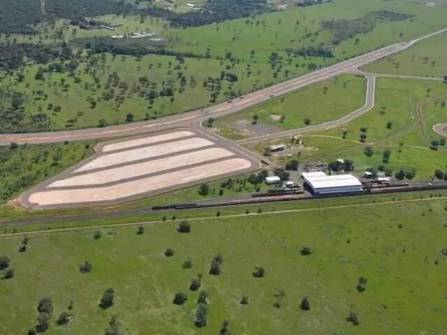 Estrutura do terminal intermodal de cargas em Campo Grande. (Foto: Arquivo/Campo Grande News)