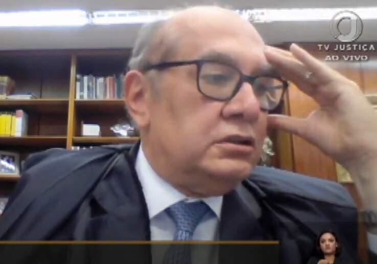 Gilmar Mendes abriu o julgamento com voto favorável ao MS, prevalencendo no final (Foto: Reprodução/TV Justiça)