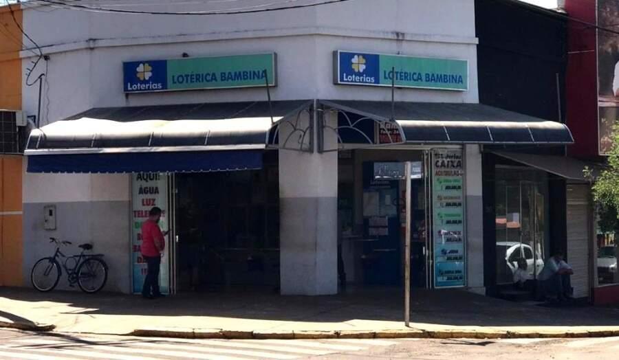 Aposta vencedora da Quina foi feita na Lotérica Bambina, em Ivinhema (Foto: Ivinotícias)
