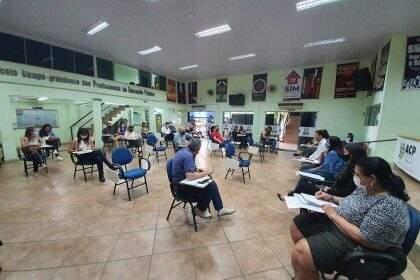 Reunião entre assessores definiu a rodada da ACP nesta quinta-feira (Foto: Ascom/ACP)