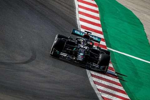 Hamilton garante pole position na última volta do treino em Portugal