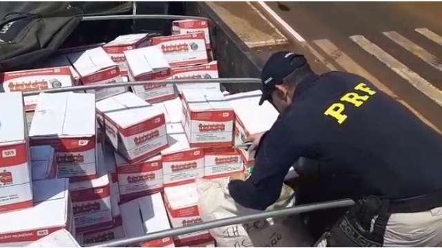Caminhoneiro é preso transportando 1,5 tonelada de agrotóxicos contrabandeados