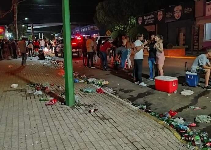 Lixo nas ruas também foi relatado em recomendação. (Foto: MPMS)