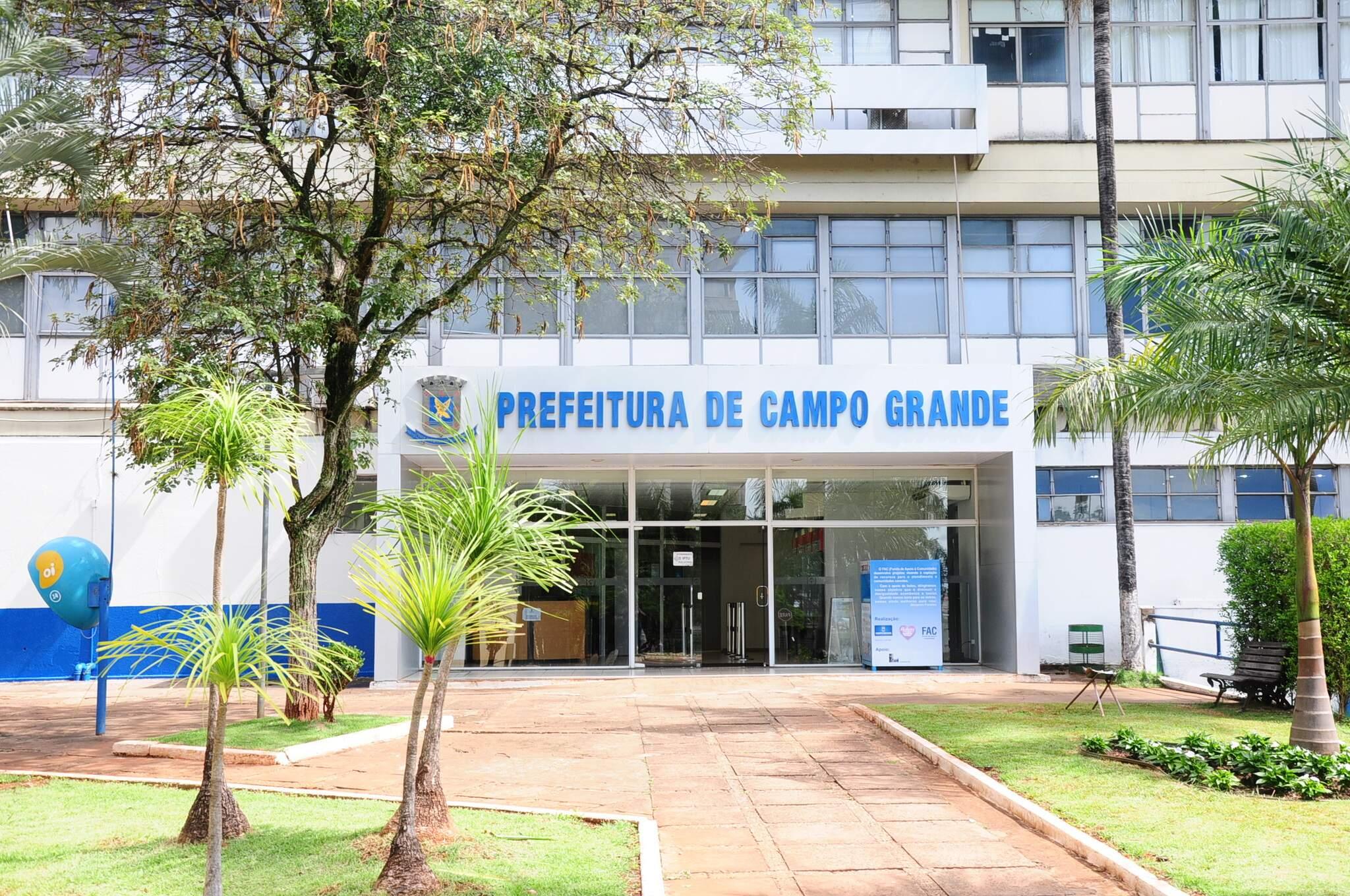 Fachada prefeitura de Campo Grande. (Foto: Marcos Maluf   Arquivo)