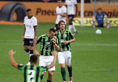 Corinthians leva gol no fim e perde do América-MG na Copa do Brasil