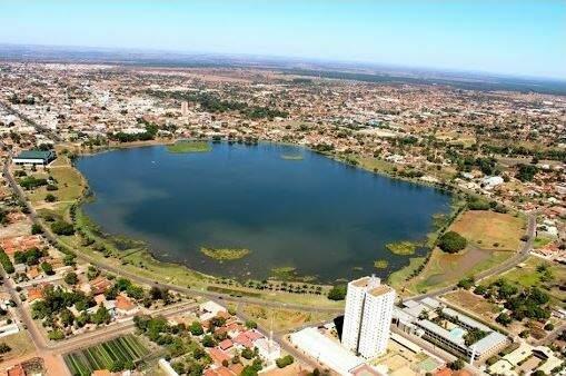 Vista aérea da Lagoa Maior em Três Lagoas. (Foto: Prefeitura de Três Lagoas)