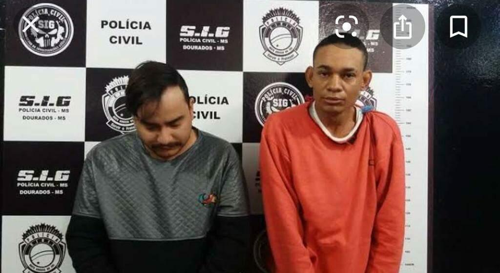De cinza à esquerda, Alisson ao lado de Luiz Henrique. (Foto: Divulgação)