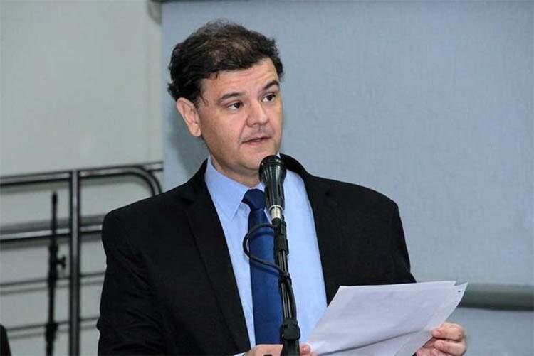 Vinicius Siqueira em sessão da Câmara Municipal (Foto: Izaias Medeiros/CMCG/Arquivo)