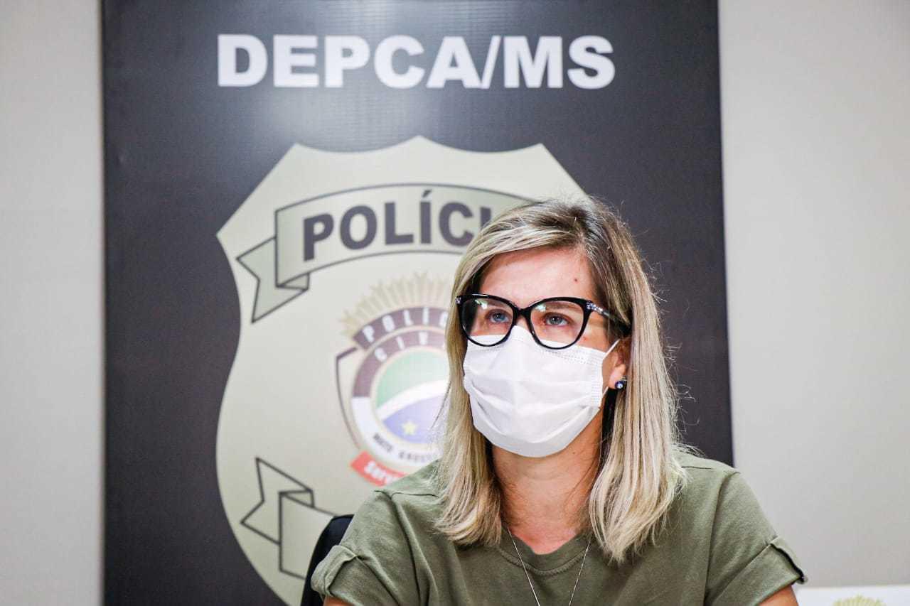 Delegada Marília de Brito, titular da DEPCA. (Foto: Henrique Kawaminami)
