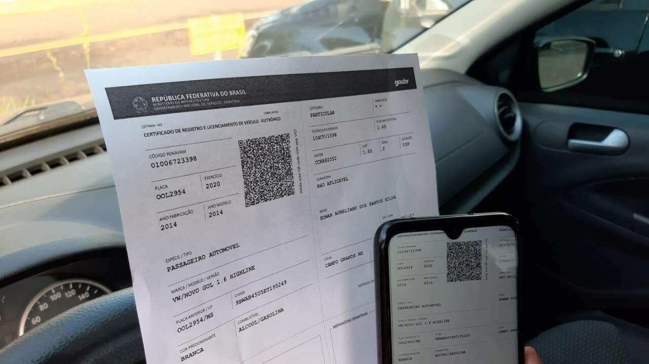 Licenciamento pode ser pago sem sair de casa. (Foto: Divulgação | Detran)