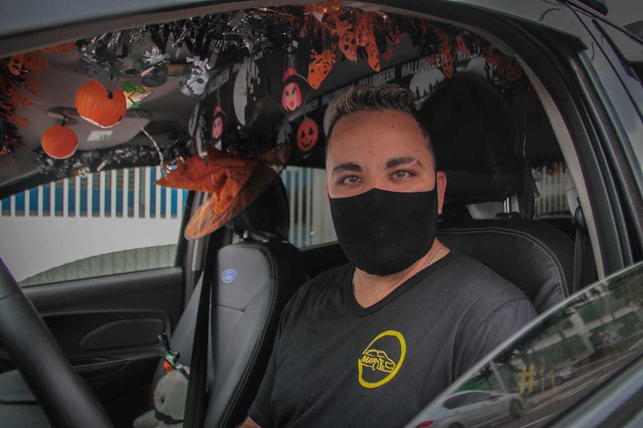 Alex é motorista de aplicativo em Campo Grande. (Foto: Marcos Maluf)