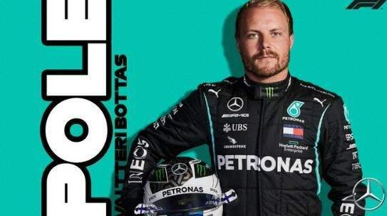 Valtteri Bottas conquistou a pole neste sábado. (Foto: Divulgação F1)
