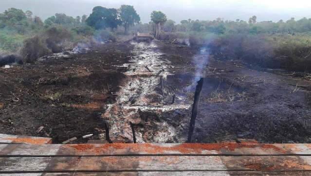 Governo define empresa para substituir ponte que foi destruída no Pantanal