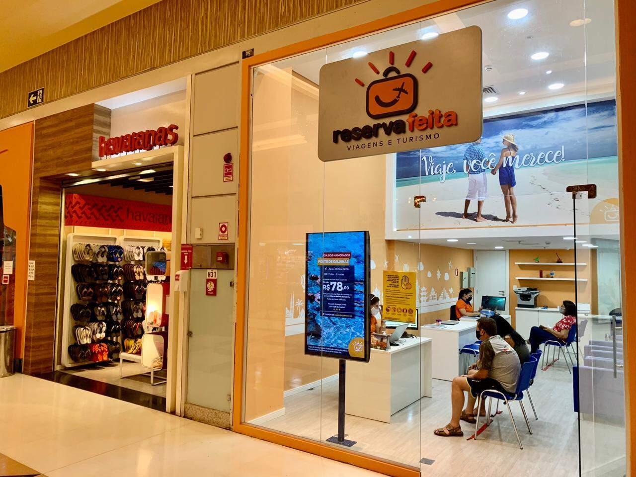 Agência de viagens do shopping terá atendimento diferenciado para evitar aglomerações. (Foto: Divulgação)