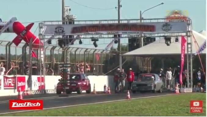 Evento de arrancadão no Autódromo de Campo Grande (Foto: Reprodução - Youtube)