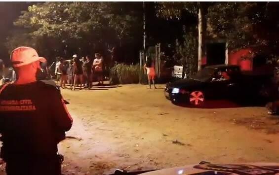 Guarda Municipal encerra festa irregular na Capital (Foto: Reprodução)