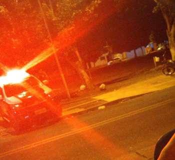 Criança é atingida por bala perdida em frente a praça  do Serra Azul
