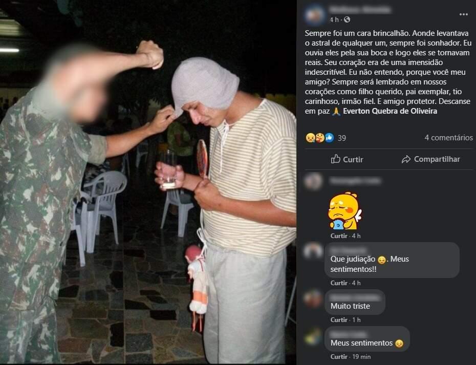 Amigos e familiares lamentam morte (Foto: reprodução/Facebook)
