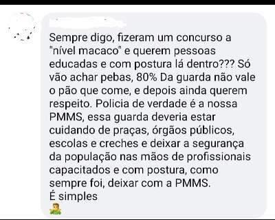 "Guarda denuncia internauta que chamou agentes de ""macacos"""
