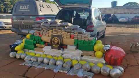 Traficante é preso com mais de 600 kg de droga na MS-156