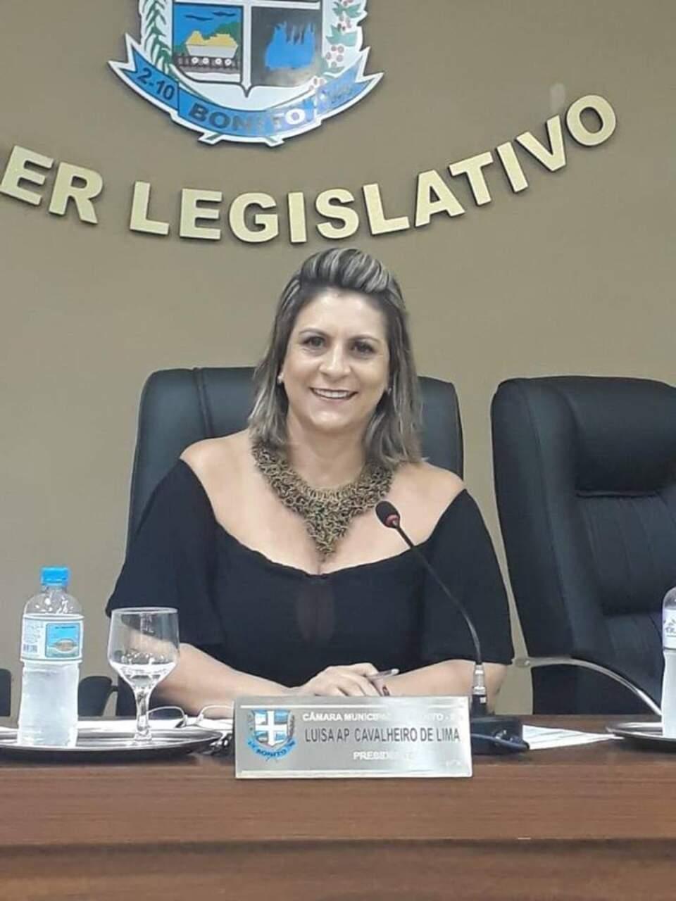Luísa de Lima (MDB) foi reeleita vereadora em 2020 (Foto: Divulgação/Câmara Municipal de Bonito)