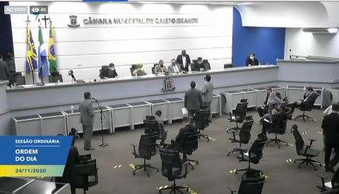 No retorno da sessão presencial, vereadores aprovam 5 projetos