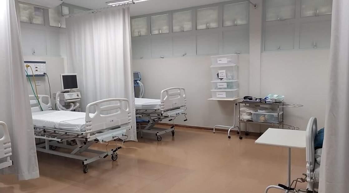 Unidades de terapia intensiva em hospital público de Mato Grosso do Sul (Foto: Reprodução/Governo do Estado)