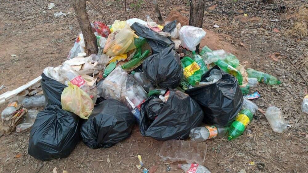 Lixo recolhido na Cascalheira (Foto: Arquivo Pessoal)