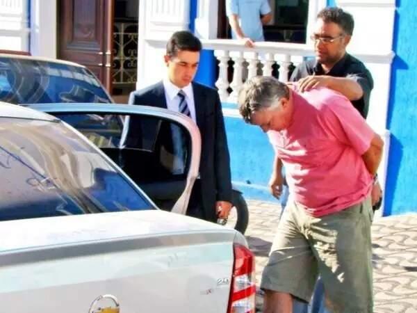 Carvalho quando foi preso na Operação Las Vegas em 2009, em Corumbá (Foto: Diário Corumbaense/Arquivo)