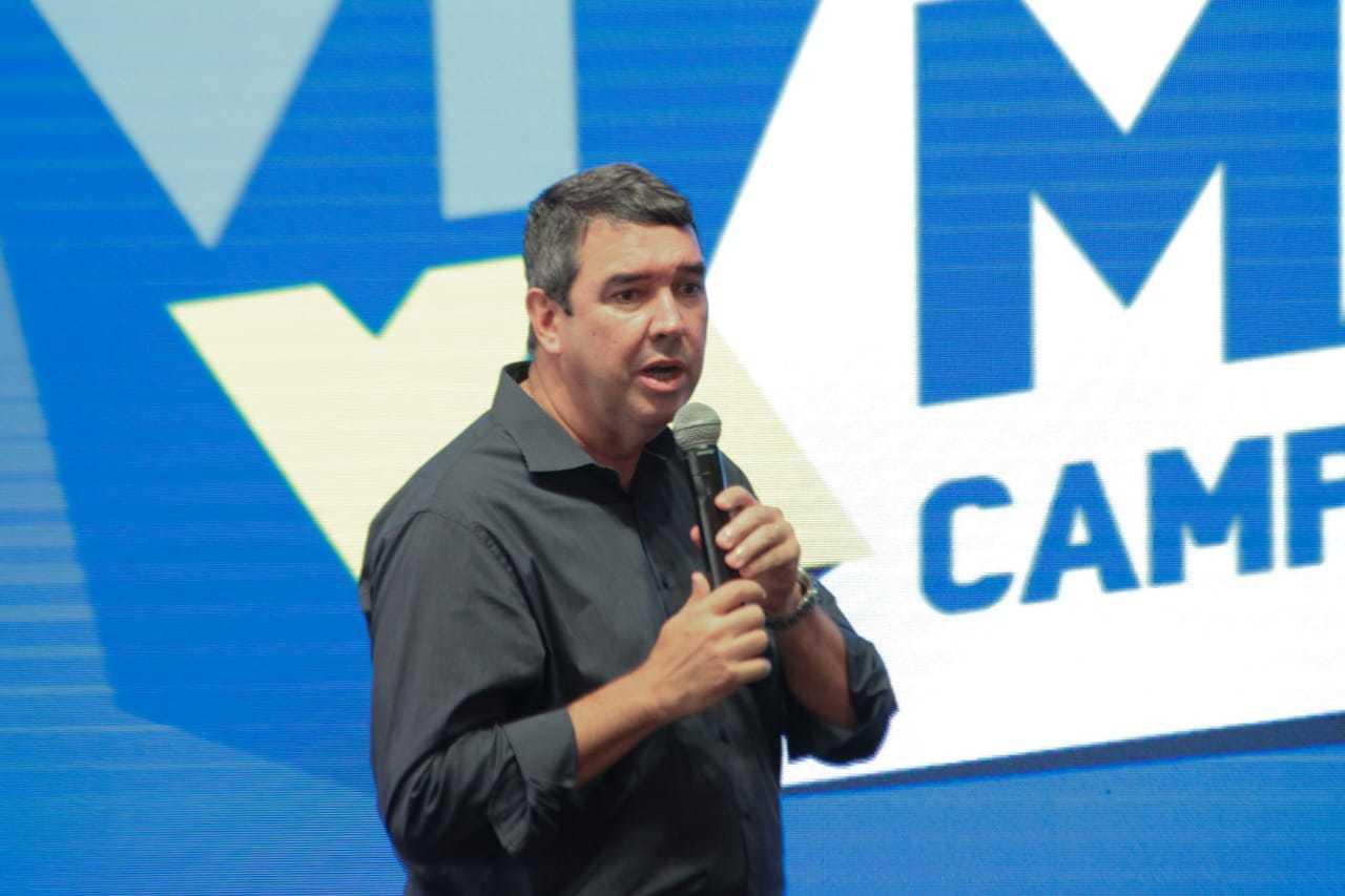 Secretário estadual de Governo, Eduardo Riedel, durante evento (Foto: Marcos Maluf)