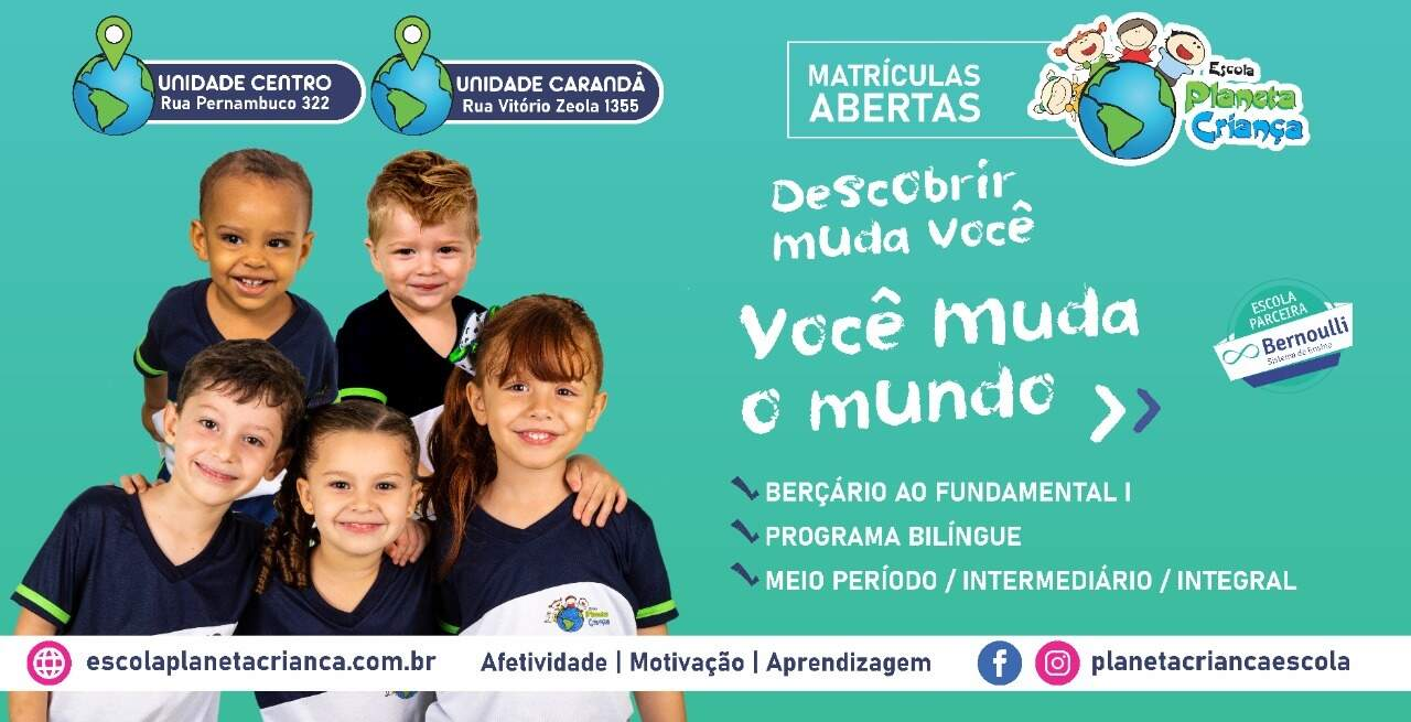 O telefone para informações e visitas à escola é (67) 32110008 ou (67) 98129-7297.
