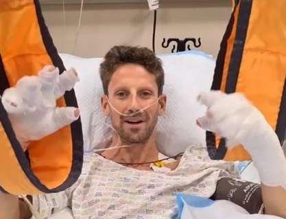 """Após forte acidente na F-1, Grosjean grava vídeo no hospital: """"estou bem"""""""