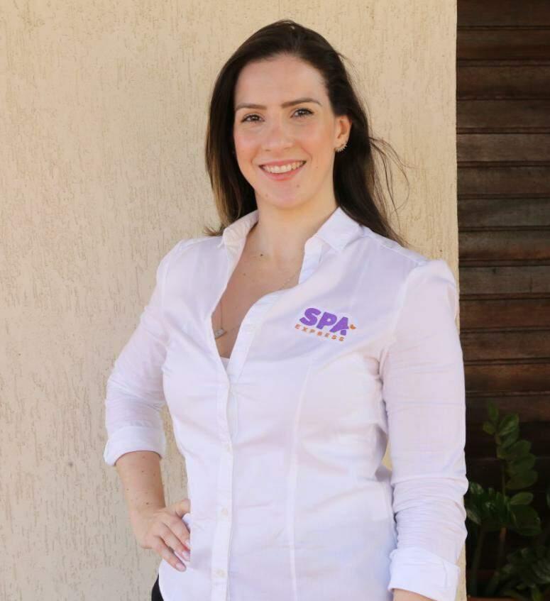 Paula Reis é empresária que inovou trazendo Spa Express para Campo Grande. (Foto: Kísie Ainoã)