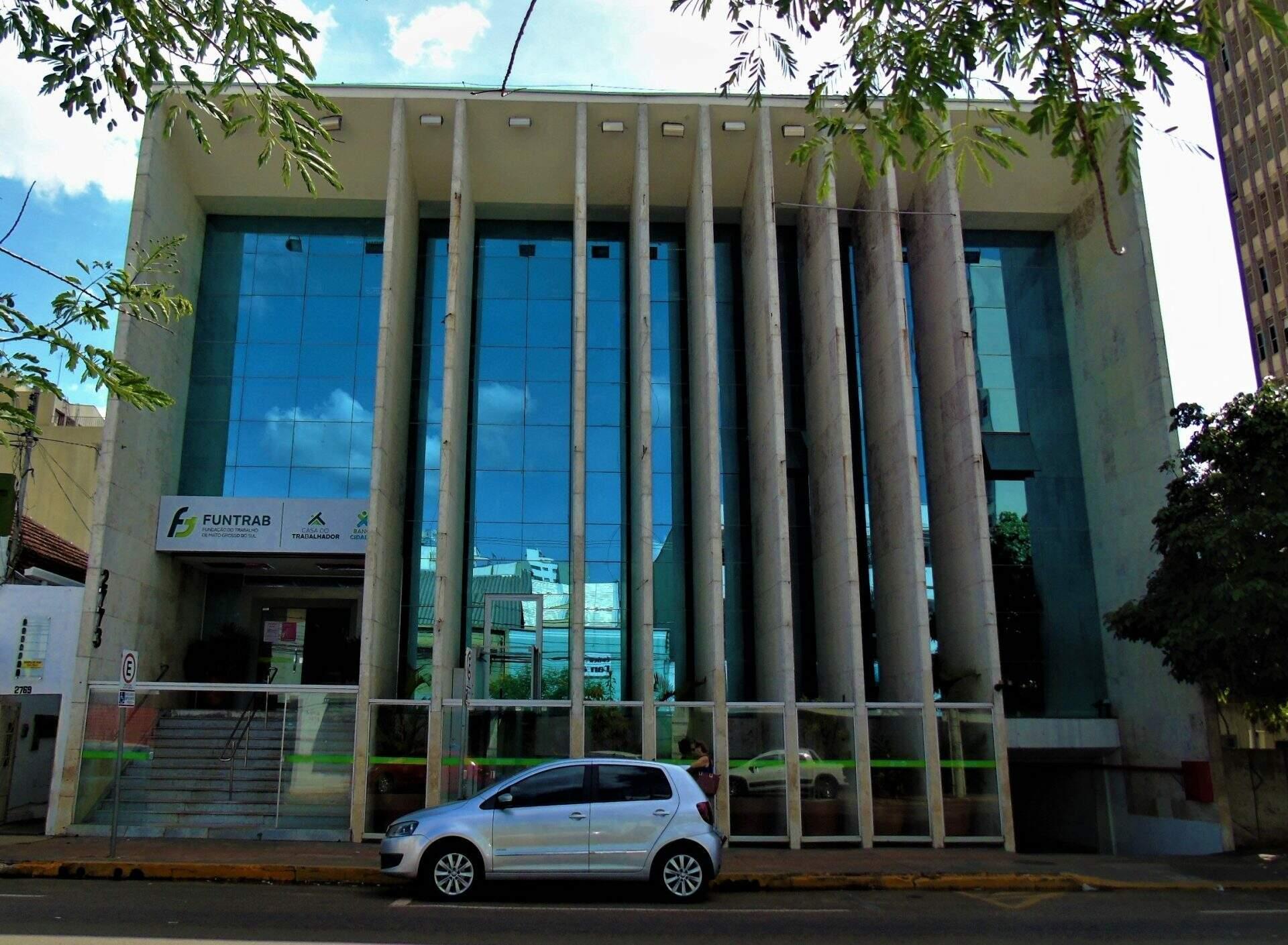 Prédio da Funtrab em Campo Grande. (Foto: Divulgação)
