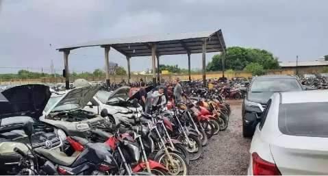 Detran-MS abre novo leilão com 270 veículos apreendidos na Capital