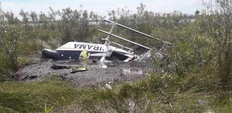 Helicóptero do Ibama cai e 2º piloto morre durante combate ao fogo no Pantanal