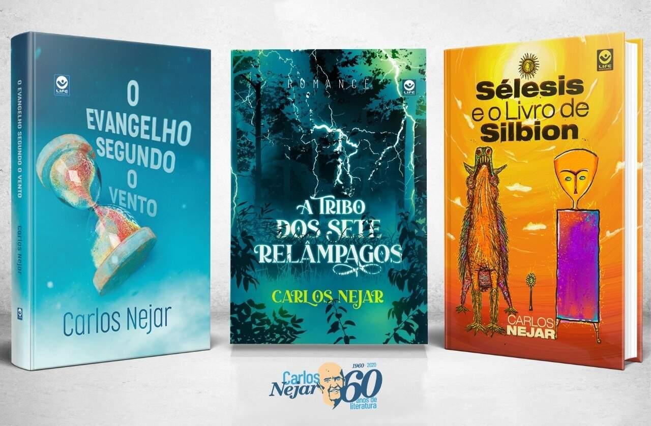 Livros que serão autografados por Nejar (Foto: Divulgação)