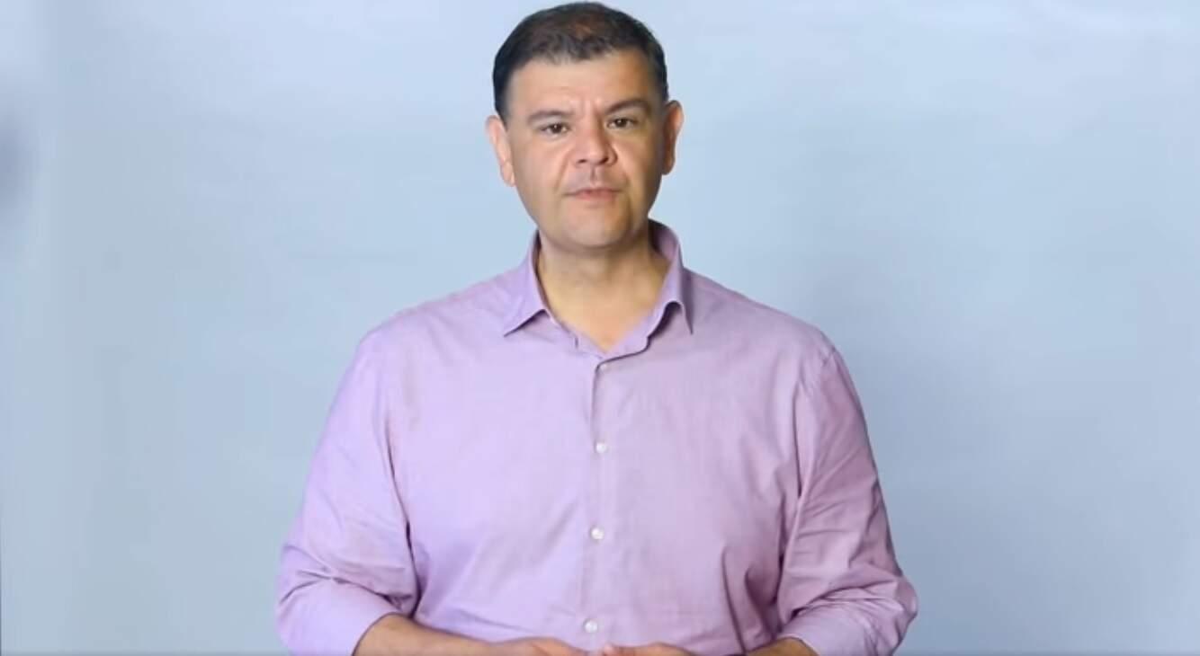 Candidato derrotado Vinicius Siqueira durante campanha (Foto: Divulgação)