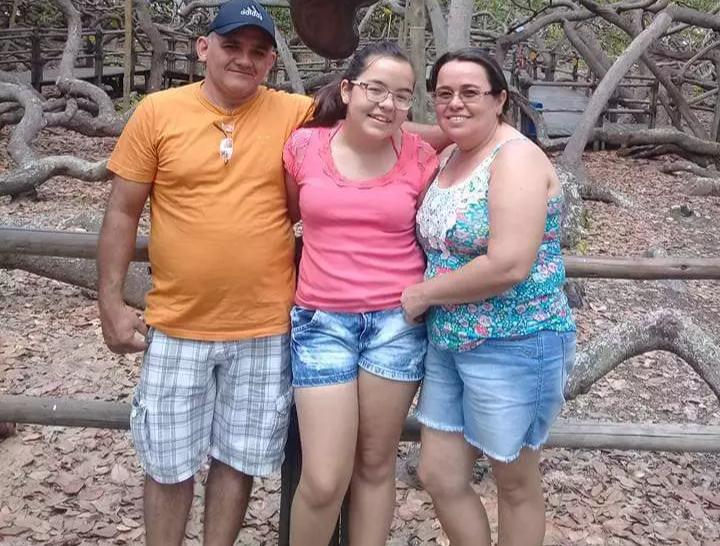 Lurdinha e a familia em visita ao Rio Grande do Norte (Foto: Arquivo Pessoal)