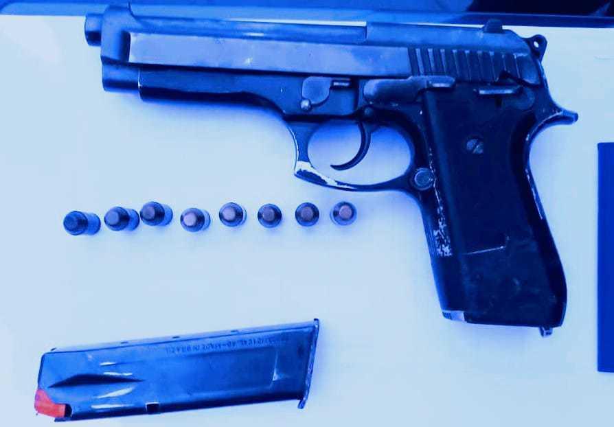 Arma usada por Jardel foi apreendida (Foto: Divulgação)