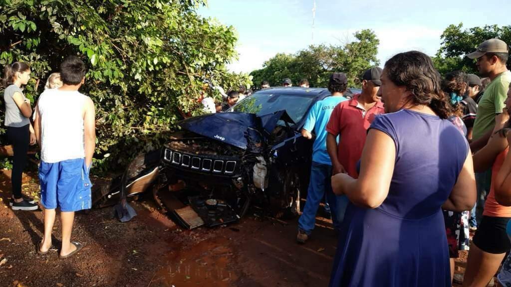Carro de policial morto na Fronteira (Foto: Jornal Hoy)
