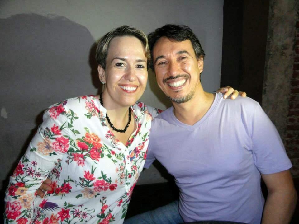 Jorge com sua melhor amiga Janine (Foto: Arquivo Pessoal)