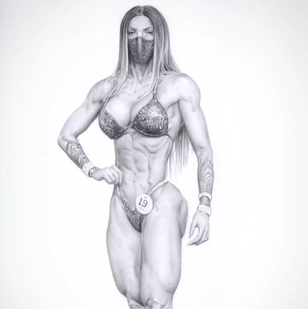 Desenho de Larissa Godoi (Foto: Arquivo Pessoal)