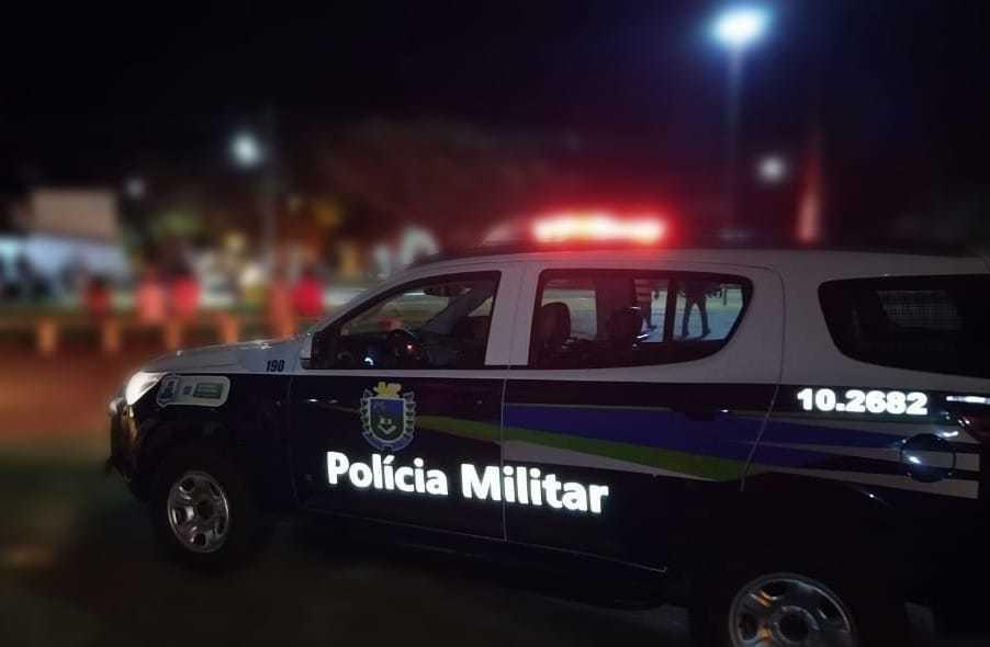 Equipe da Polícia Militar durante operação de fiscalização do toque de recolher (Foto: Divulgação)