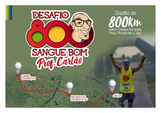 Em Desafio Sangue Bom, Carlão irá correr e pedalar 800 km