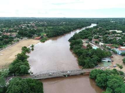 Temporais aumentam risco de enchentes e Imasul reforça monitoramento de rios