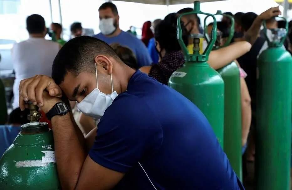 Manaus vive aumento de internações e escassez de oxigênio para pacientes (Foto: Bruno Kelly/Reuters)
